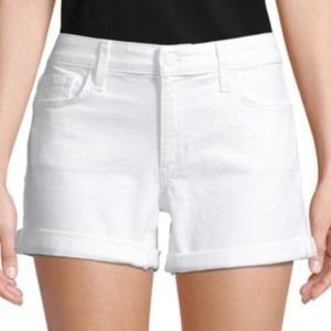 NWT Joe's Jeans Rolled Cuff Denim Shorts White 26